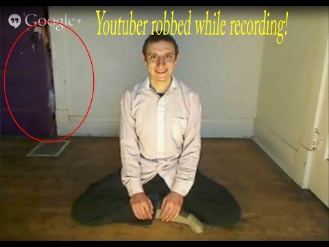 Youtuber robbed while recording. Caught on video!