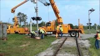 Railroad signal installation