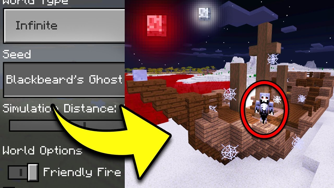 Top 5 Scariest Seeds For Minecraft Pocket Edition Ps4 Xbox Switch Pc Youtube