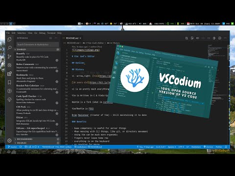 VS Codium (VS Code) On Arch Linux With A Shell Script