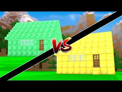 Minecraft: - CASA DE ESMERALDA VS CASA DE OURO - ‹ JUAUM ›