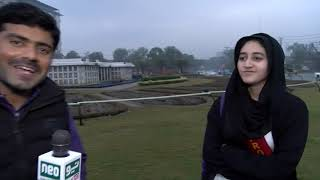 Romantic weather in Lahore A signing girl