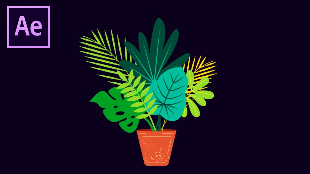 Easy Plant Animation Dynamically in After Effects Tutorial