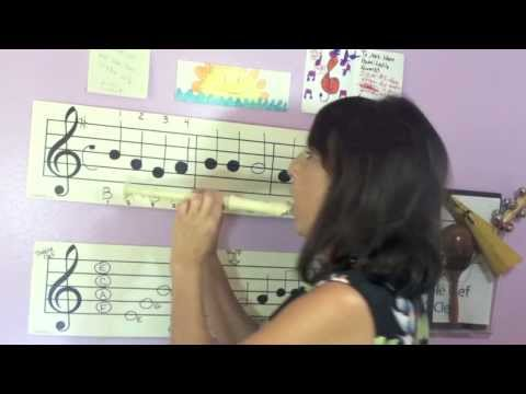 Recorder-Reading the  Notes for beginners  #2,play along