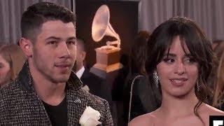 Camila Cabello & Nick Jonas' AWKWARD Run-In On Grammys 2018 Carpet