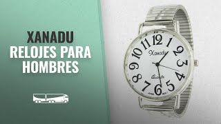Top 10 Ventas Xanadu 2018: Super Large Face Stretch Band Easy to Read Watch-Silver Tone