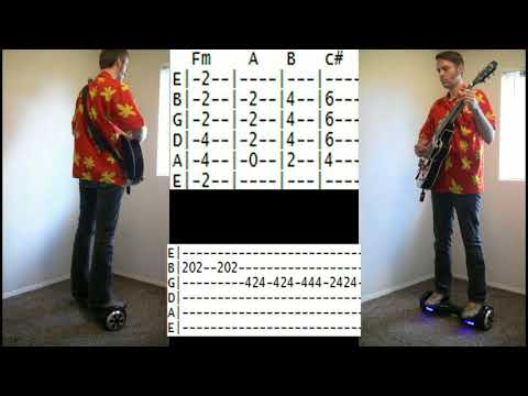 how to play You Spin Me Round Like A Record Dead or Alive guitar lesson tab chords on Hoverboard