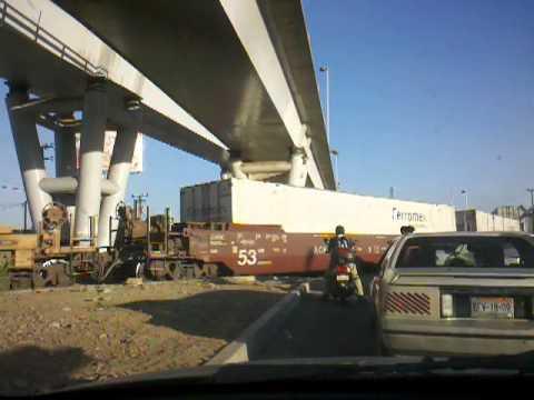 El paso del tren en Mexicali