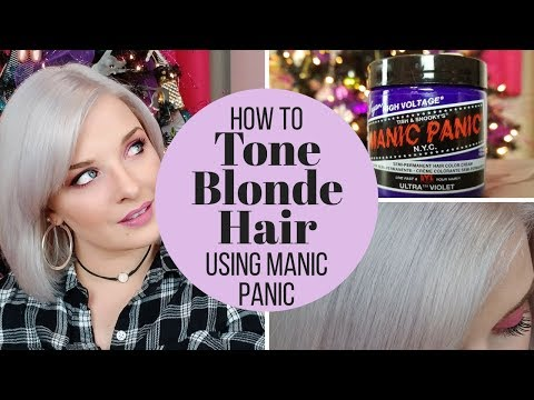 How To: Manic Panic Ultra Violet Blonde Toner from YouTube · Duration:  6 minutes 12 seconds