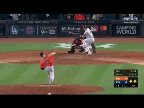 Gary Sanchez Go-Ahead 2-Run Double vs Astros   Yankees vs Astros Game 4 ALCS