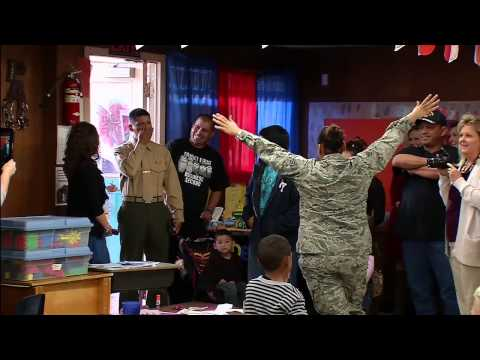 Poteet Airman Surprises Her Son at School