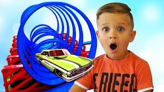 TRACKS TOY CARS for Kids Toys Unboxing and Kids Playtime video for children, babies and toddlers