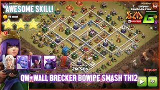 Clash of Clans⭐The Best ways to Destroy TH12 3-Star-QW+BOWIPE Strategy⭐Learn it!