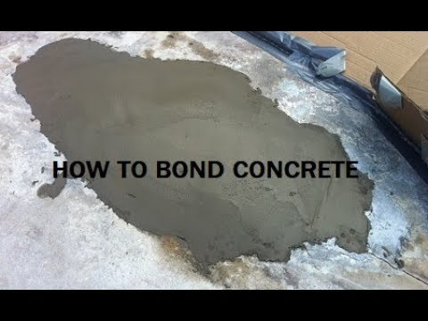 How To Bond New Concrete Old