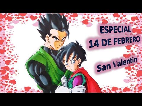 Como Dibujar A Gohan Y Videl Especial San Valentin 14 De Febrero Dia