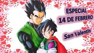 Como dibujar a GOHAN y VIDEL Especial San Valentin 14 de febrero dia del amor y la amistad.