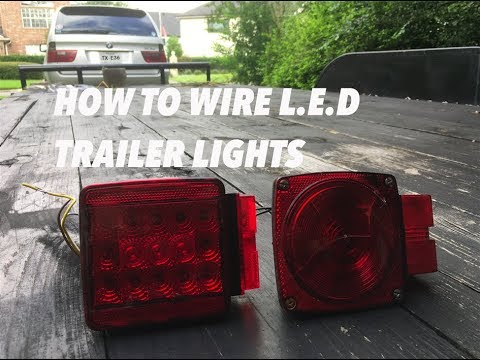 how to wire led trailer lights