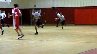 Khalid Slocum #3 Harundale Hornets 3 Point Shot In The Defender Face (Hand Down Man Down).avi