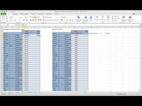 Excel 7-1 Absolute en relatieve celverwijzing