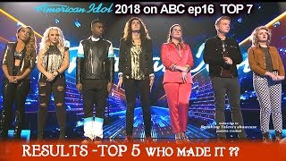 TOP 5  RESULTS  American Idol 2018 TOP 5  REVEALED  - Who MADE IT? Who were ELIMINATED?