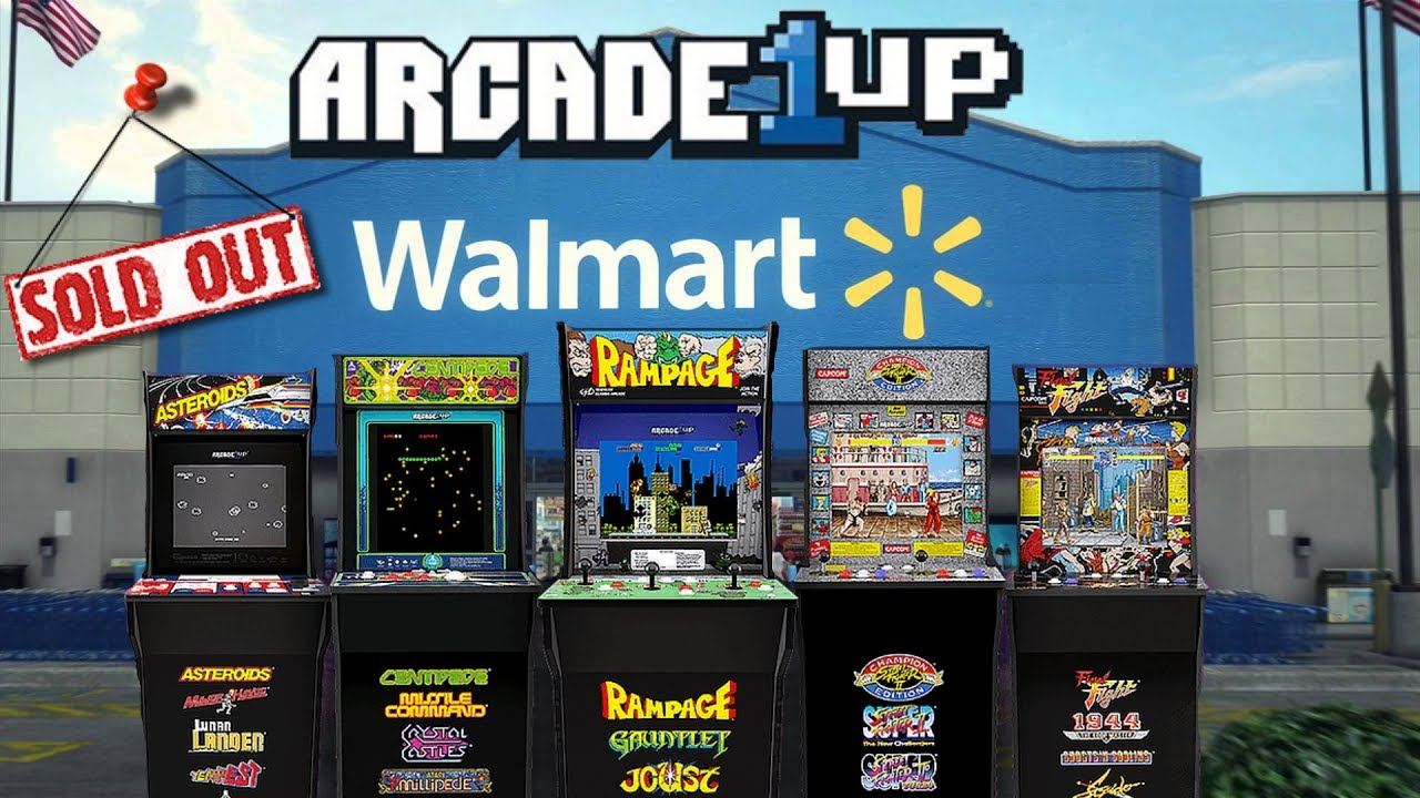 arcade1up arcade cabinets sold out at walmart