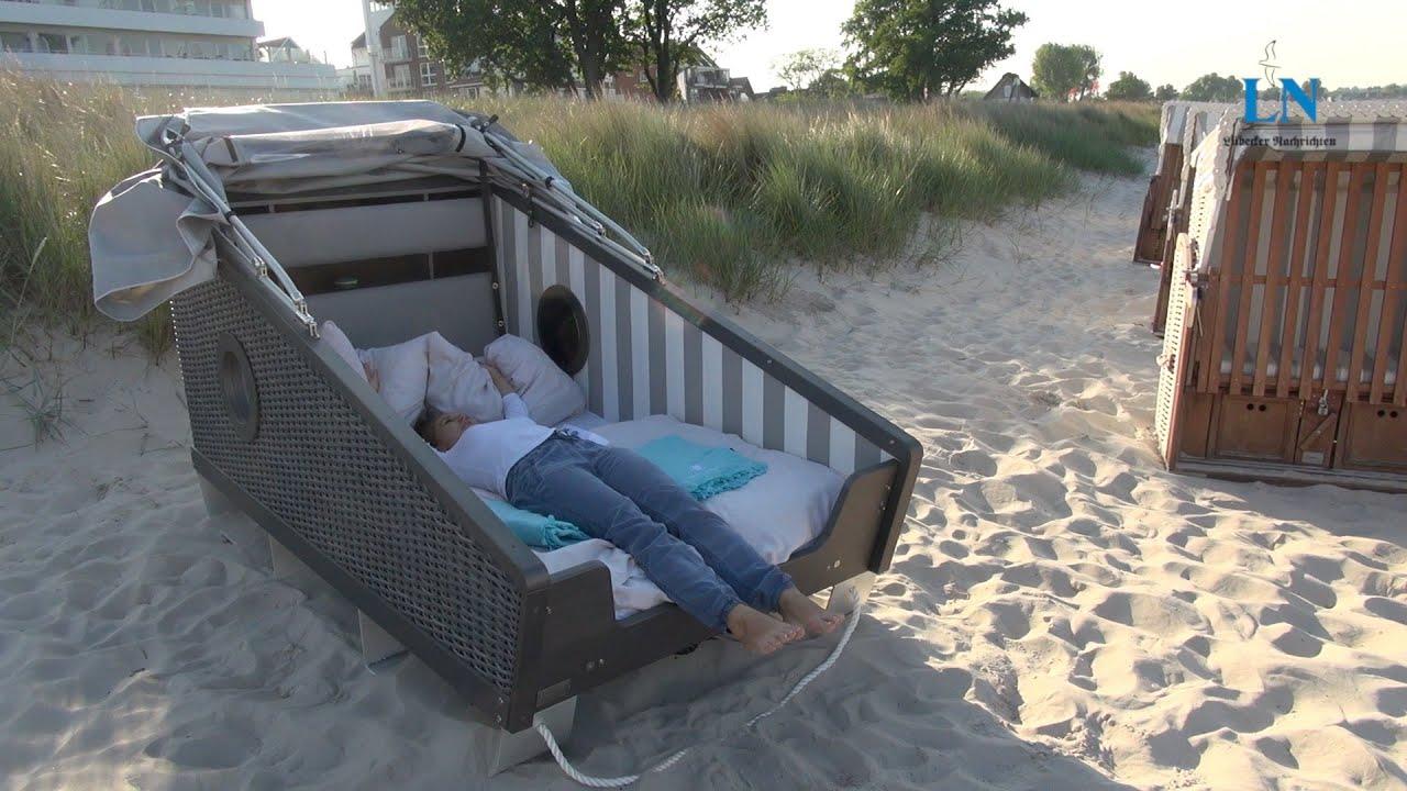 der schlafstrandkorb im ln-test - youtube