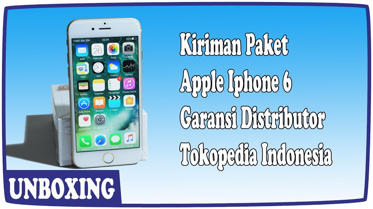 Unboxing Smartphone Apple Iphone 6 Garansi Distributor Toko Online 5 64gb 1 Tahun Tokopedia Indonesia
