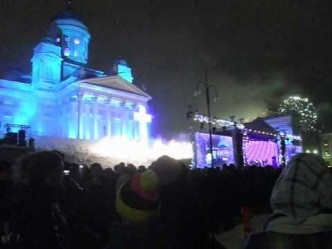 Countdown to 2011 at Senate Square, Helsinki 31.12.2010