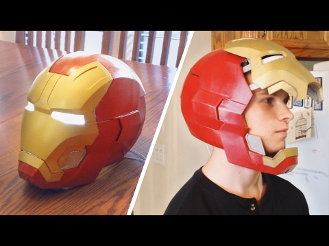 3D Printed Iron Man Helmet with Functional Electronics!