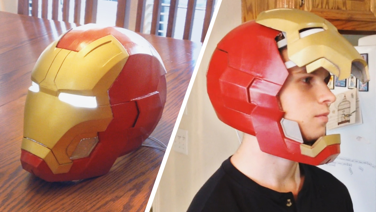 image relating to Iron Man Mask Printable known as 3D Posted Iron Male Helmet with Simple Electronics!