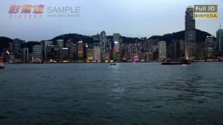 Full HD 1080p Music Viedo 香港 維多利亞港 夜景 Victoria Harbour 曠時 Time Lapse W0002