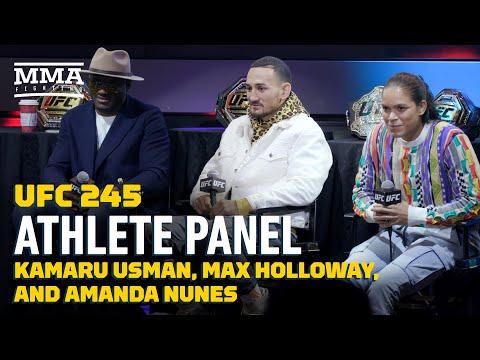 UFC 245 Athlete Panel: Kamaru Usman, Max Holloway, And Amanda Nunes- MMA Fighting