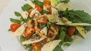 Очень простой салат из рукколы///Очень вкусный и полезный