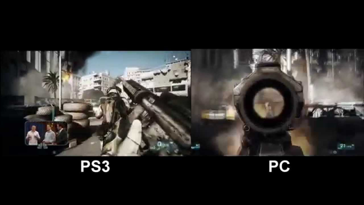 Battlefield 3 Gameplay PC vs PS3 Comparison - Full HD 1080p - YouTube