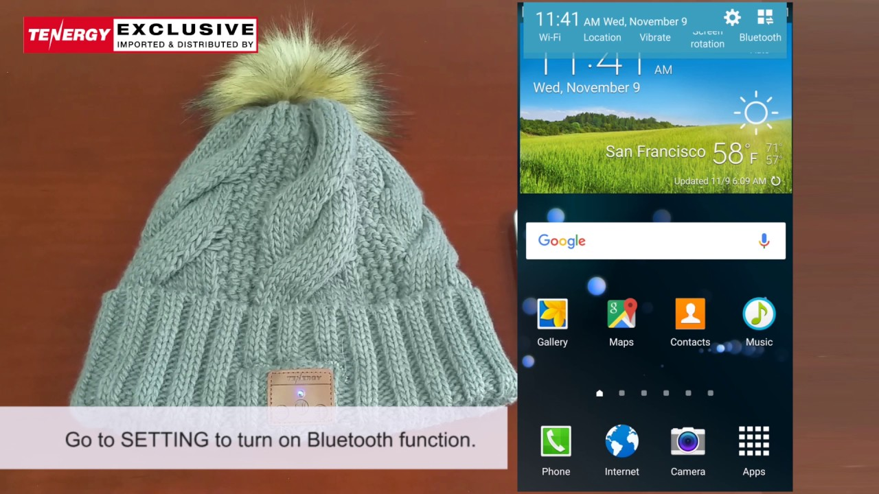 74a5a74050215 Tenergy Bluetooth Beanie how to pair - YouTube