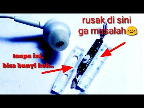 Tutorial Service Earphone Handsfree Simple Gak Ribett
