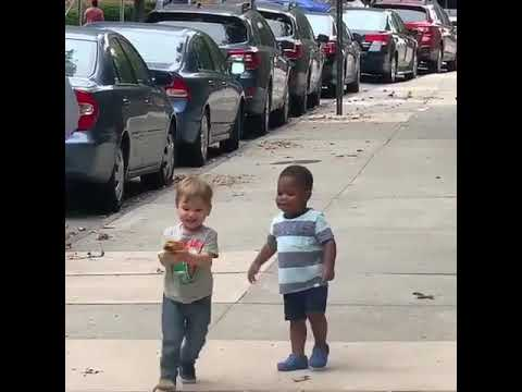 Rachel Lutzker - PURE JOY!! Toddlers Spot Each Other on NYC Street and are SO excited!