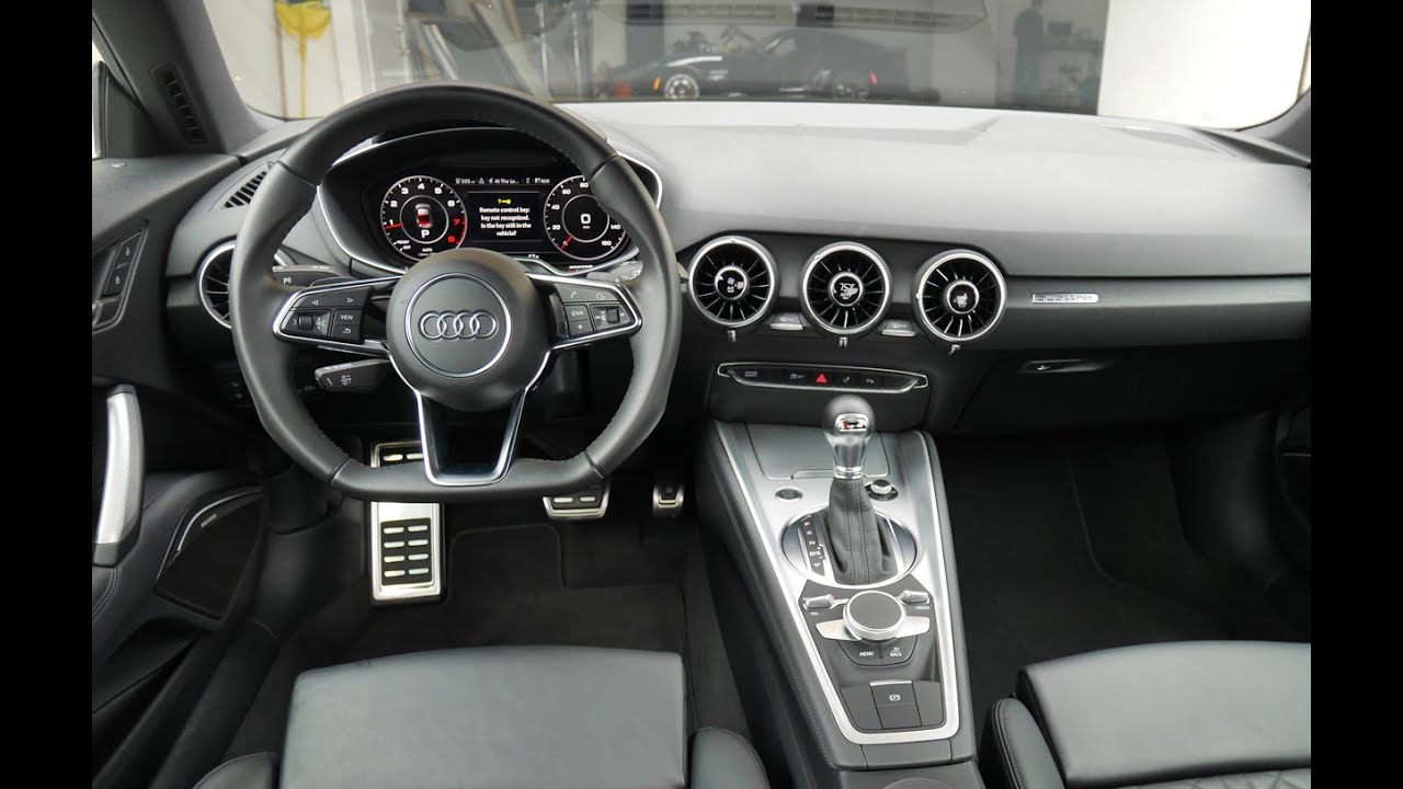 2016 audi tt interior review with virtual cockpit youtube for Audi tt interieur