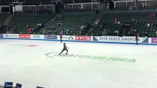 Nathan Chen 2018 Skate America FS practice 10.18.18