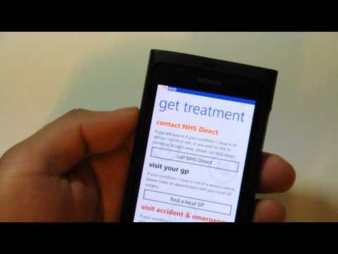 Lumiappaday #207: Healh Choices demoed on the Nokia Lumia 800 (NHS app)