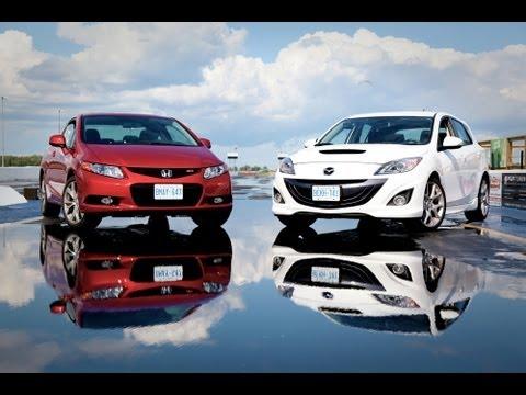 2012 Honda Civic Si vs 2012 MazdaSpeed3 Comparison  YouTube