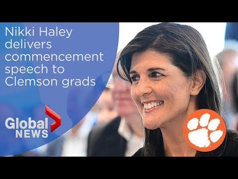WATCH LIVE: Nikki Haley delivers commencement speech to Clemson grads