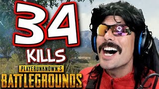 "DrDisRespect's ""34-KiII Squad Game"" on PUBG with Optic Karma, VSNZ, and Drassel!"