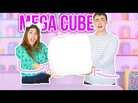 MEGA CUBE SLIME FLOAM | making a giant mega size cube floam | Slimeatory #35