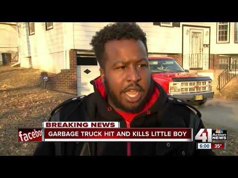Garbage truck hits, kills 8-year-old boy in KCMO