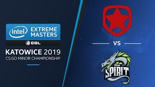 CS:GO - Gambit vs. Team Spirit [Cache] Map 2 - LB Ro2a - IEM Katowice EU Minor 2019