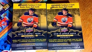 Opening 2 More 18/19 Upper Deck Series 1 Hockey Retail Mega Boxes