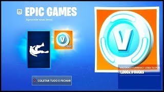 1000 V-BUCKS GRATUIT, EXCLUSIF ITEMS et EVENT à FORTNITE!