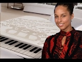 Alicia Keys Buys DJ Khaled Newborn a 25K Piano with her Lyrics Written On It