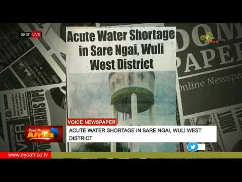 acute water shortage in sare ngai, wuli west district:THE VOICE NEWSPAPER